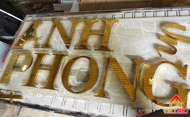 Chữ nổi inox vàng Anh Phong