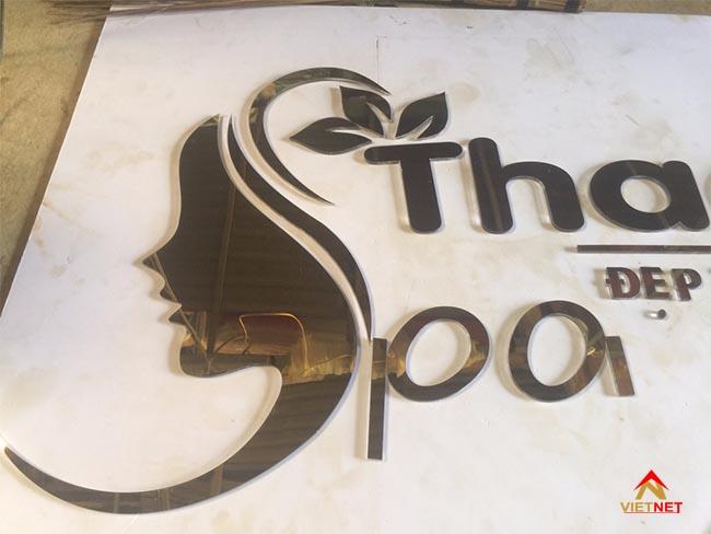 Chữ inox vàng Spa Thao An