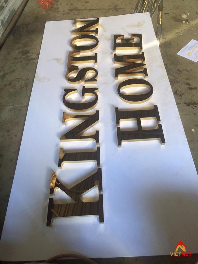 Chữ inox vàng KingSton Home