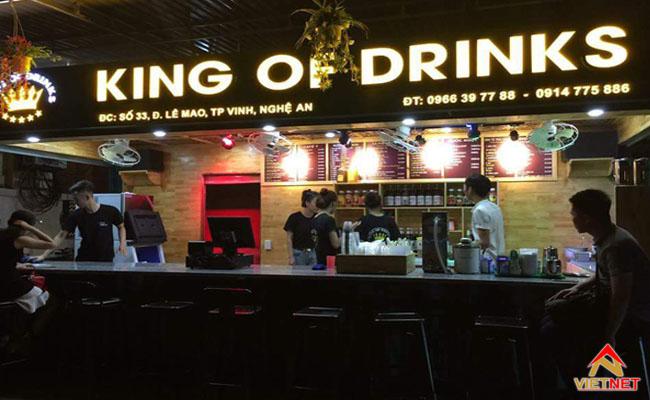 bảng hiệu quán cafe đêm