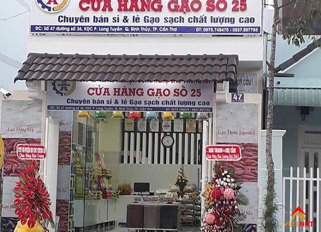Bảng hiệu cửa hàng gạo 3