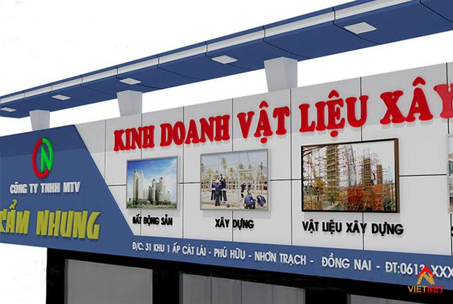 Bảng hiệu cửa hàng vật liệu xây dựng 3