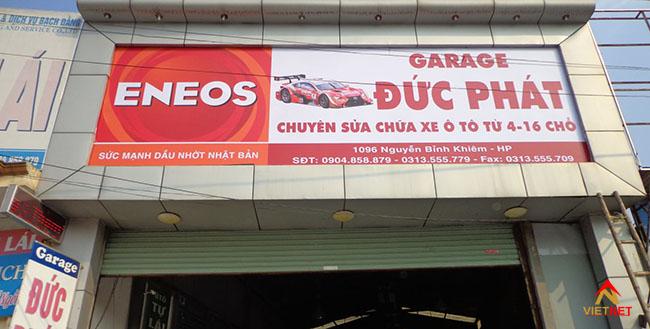 Bảng hiệu quảng cáo garage xe 4