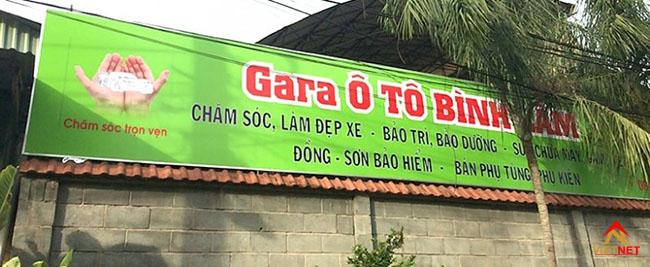 Bảng hiệu quảng cáo garage xe 6
