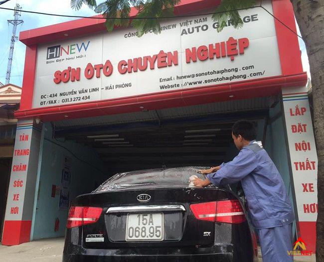 Bảng hiệu quảng cáo garage xe