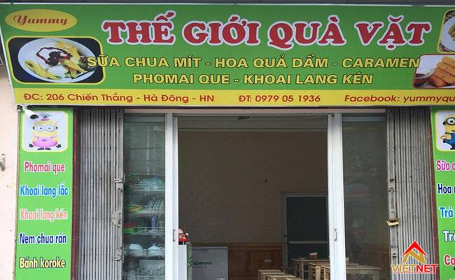 quán ăn vặt chất lượng