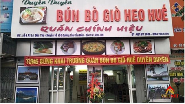 bảng hiệu quán ăn tốt