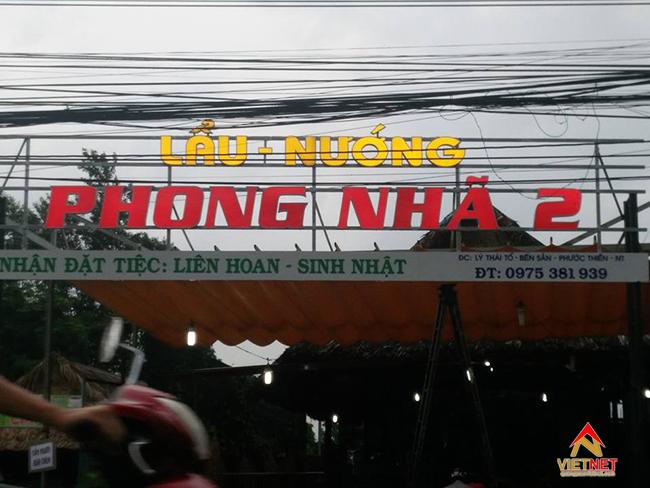 Bảng hiệu quán nhậu bình dân 7
