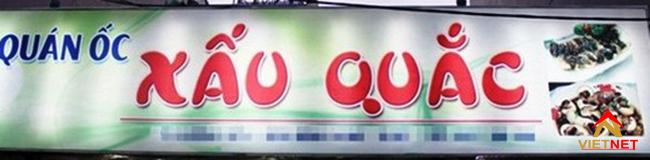 Bảng quảng cáo quán ốc