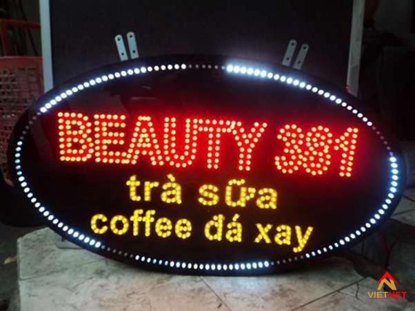 bảng hiệu đèn led quán trà sữa