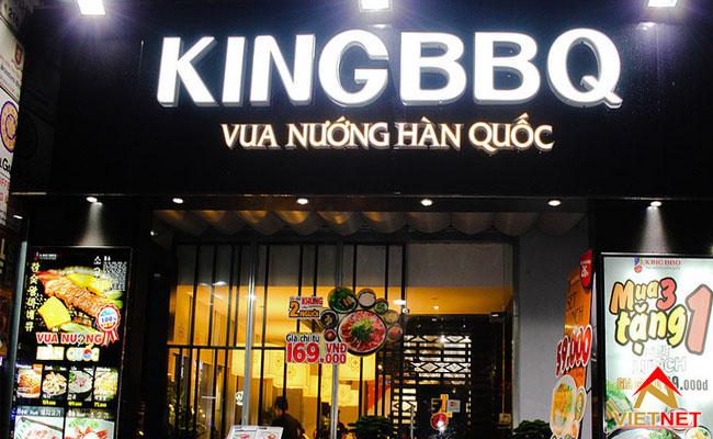 bảng hiệu king bbq