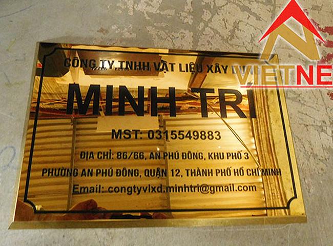 bảng hiệu ăn mòn kim loại công ty minh trí
