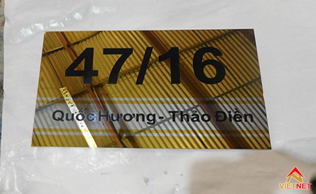 bảng số nhà inox ăn mòn quận 2