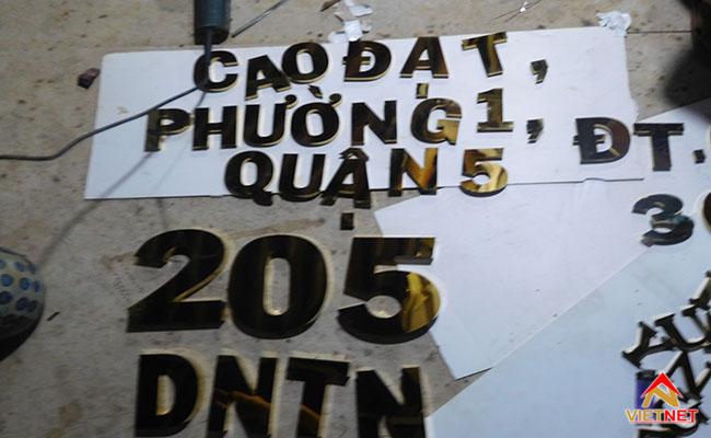 bảng hiệu chữ inox địa chỉ