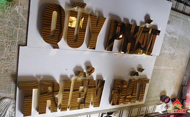 chữ inox vàng quỹ phát triển đất
