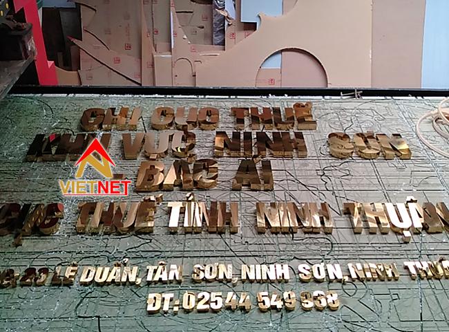 chữ inox vàng chi cục thuế ninh thuận