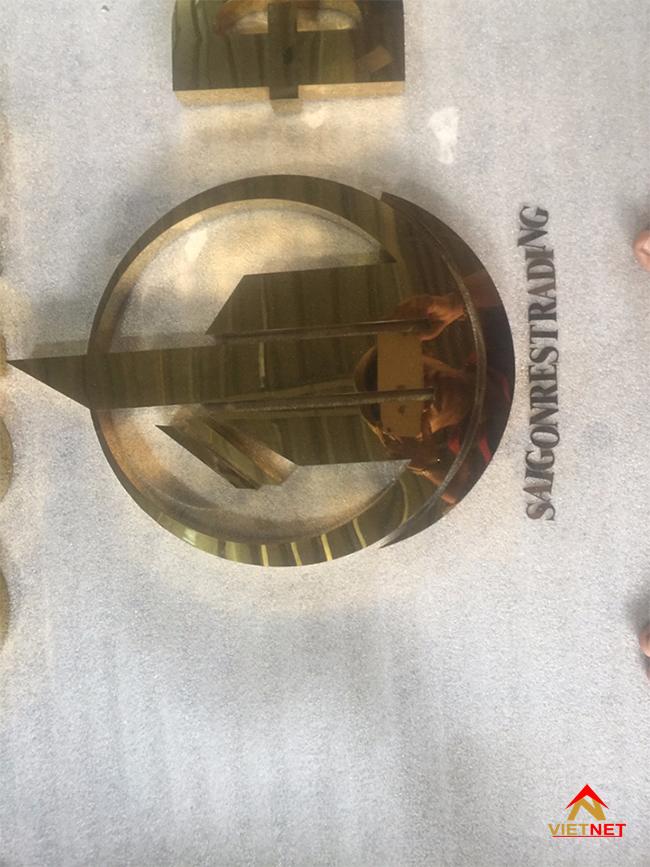 Chữ inox vàng công ty bất động sản