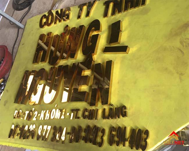 Chữ inox vàng công ty TNHH Hưng Nguyên