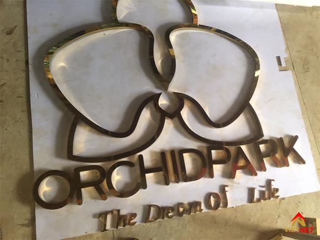 Chữ inox vàng orchidpark