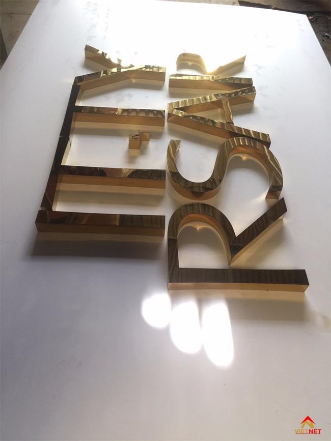 Chữ inox vàng ITTY RSAR 5