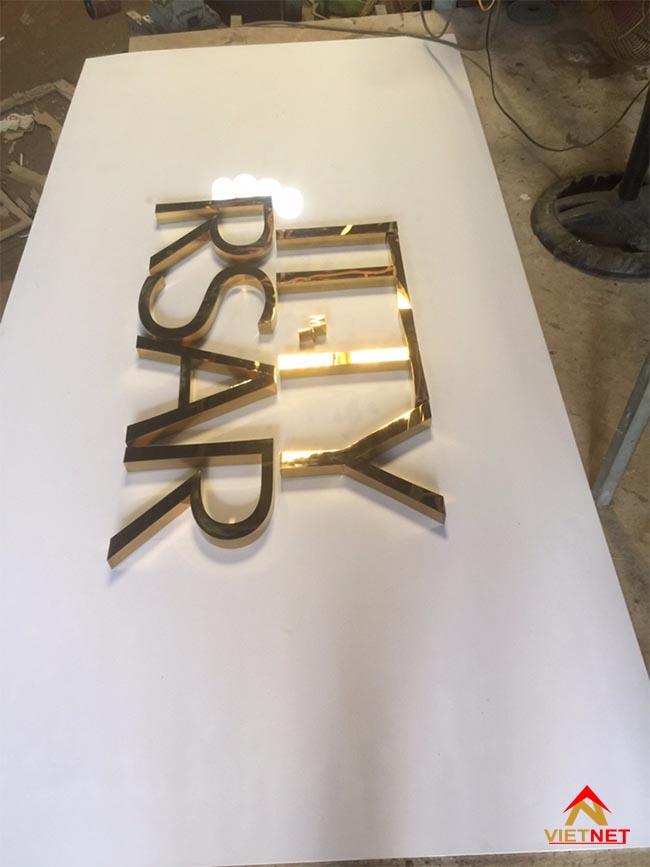 Chữ inox vàng ITTY RSAR 3