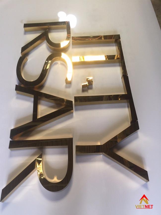 Chữ inox vàng ITTY RSAR 1