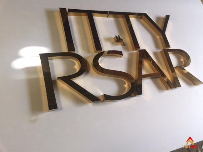 Chữ inox vàng ITTY RSAR