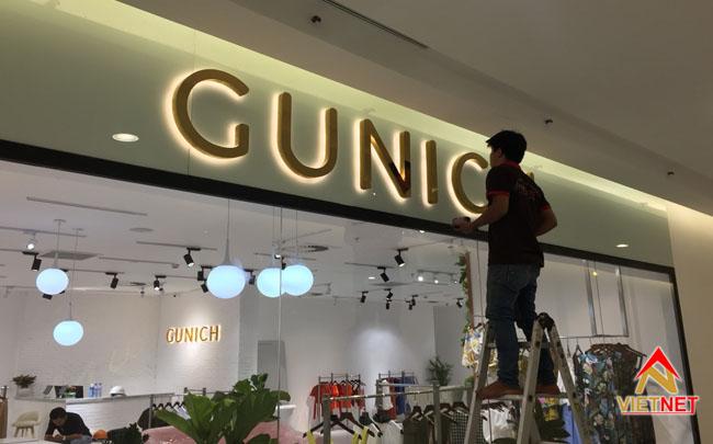 chữ inox vàng shop thời trang