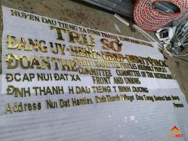 Chữ inox vàng ủy ban nhân dân