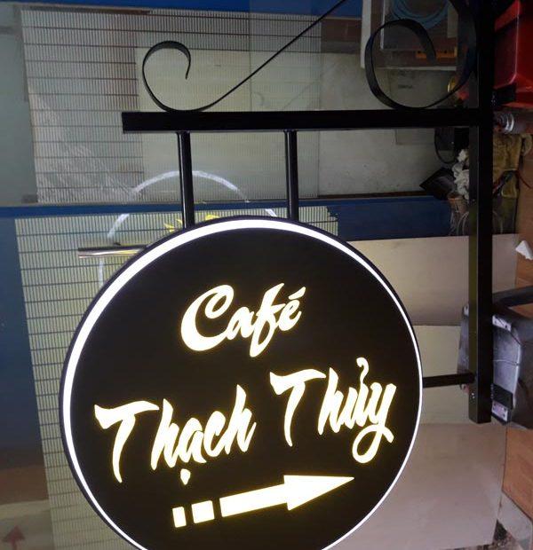 hộp đè quảng cáo quán cafe