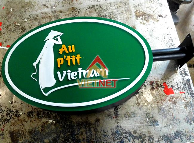 mau hop den quang cao tiem ao dai Au Ptit Viet Nam
