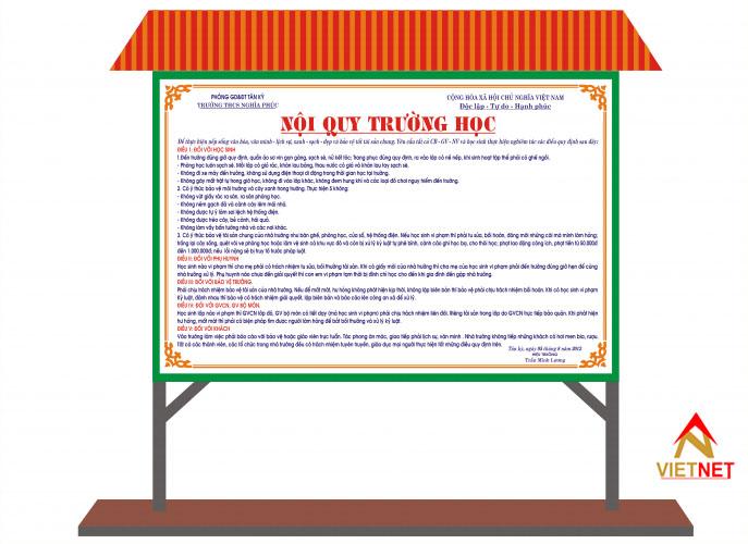 bảng nội quy trường học