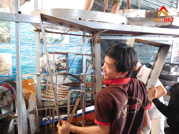 Hình ảnh sản xuất tại xưởng VietNet 1