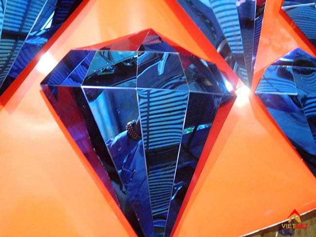 Viên kim cương inox xanh 5